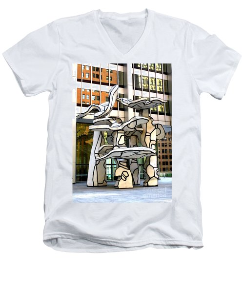 One Chase Manhattan Plaza 1 Men's V-Neck T-Shirt