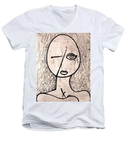 One Eye Men's V-Neck T-Shirt