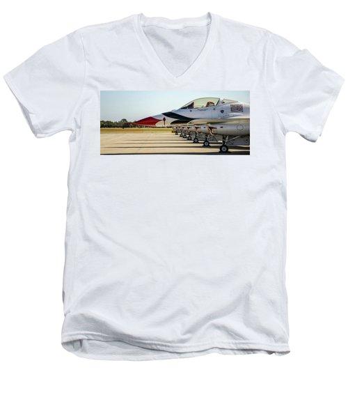 One Jet Or Seven Men's V-Neck T-Shirt