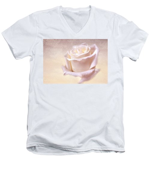 One Rose Is Enough For The Dawn Men's V-Neck T-Shirt