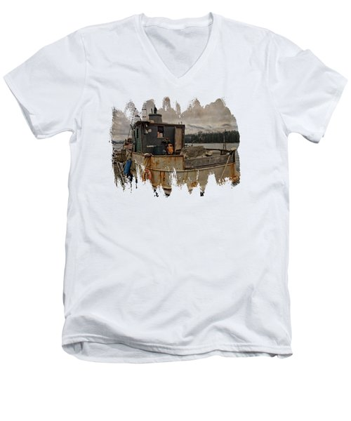 Men's V-Neck T-Shirt featuring the photograph One Salty Dog by Thom Zehrfeld
