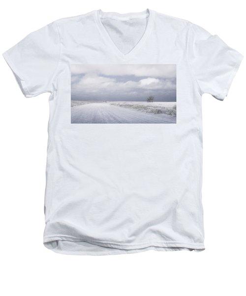One Men's V-Neck T-Shirt