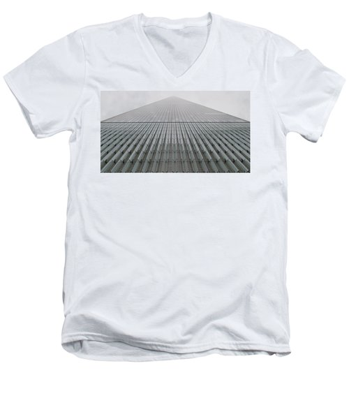 One World Trade Men's V-Neck T-Shirt