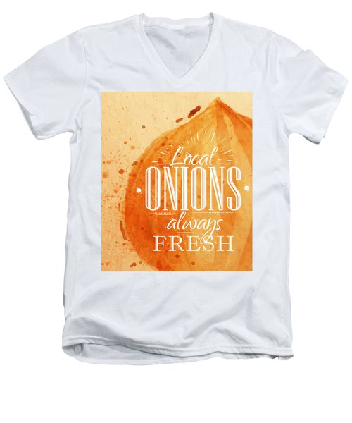 Onion Men's V-Neck T-Shirt by Aloke Creative Store