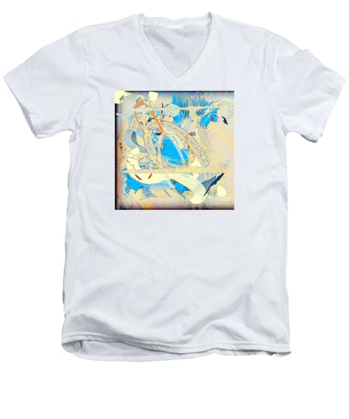 Men's V-Neck T-Shirt featuring the digital art Only In A Dream by Gabrielle Schertz