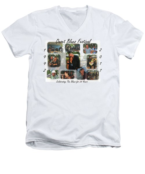 Onset Celebrates 25 Years Of Blues Men's V-Neck T-Shirt