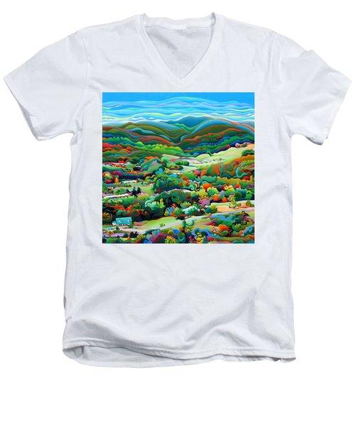 Onset Of The Appalachian Wonderfall Men's V-Neck T-Shirt