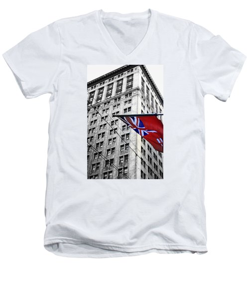Ontario Flag Men's V-Neck T-Shirt by Valentino Visentini