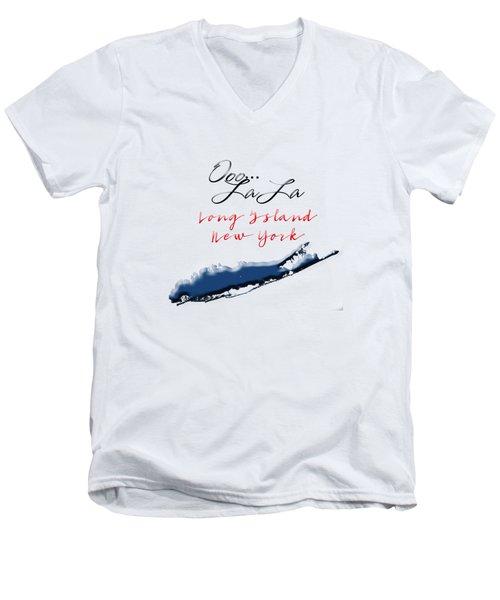 Ooo La La Long Island Men's V-Neck T-Shirt