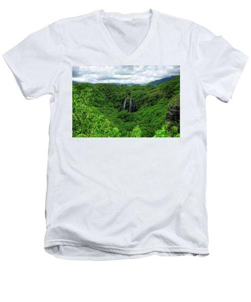 Opaeka Falls Men's V-Neck T-Shirt