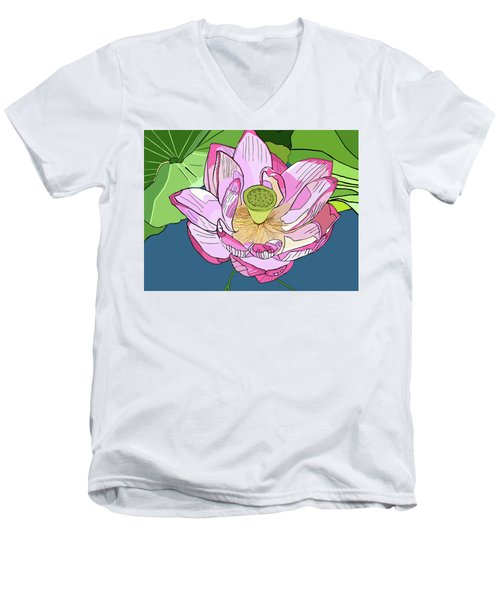 Open Lotus Men's V-Neck T-Shirt