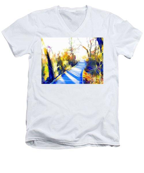 Open Pathway Meditative Space Men's V-Neck T-Shirt