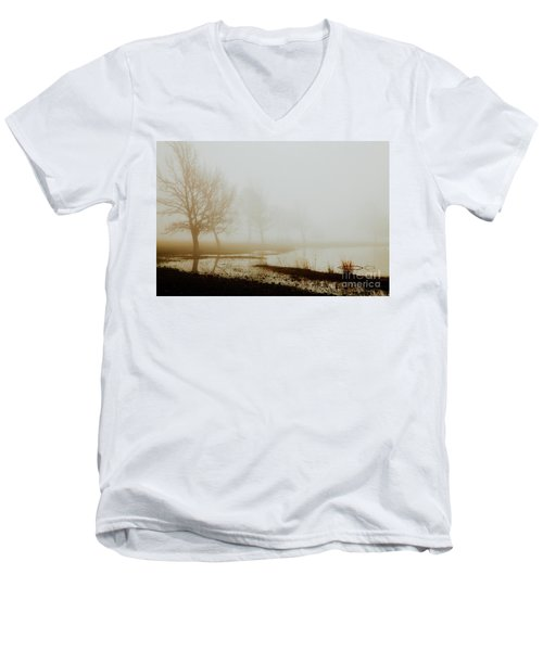 Men's V-Neck T-Shirt featuring the photograph Open Space by Iris Greenwell