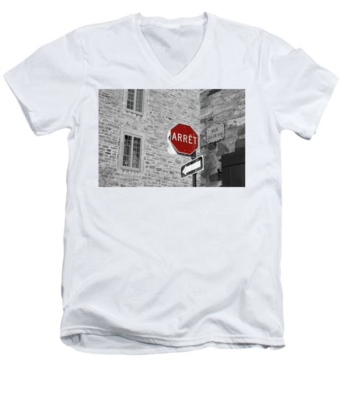 Optical Illusion, Quebec City Men's V-Neck T-Shirt by Brooke T Ryan