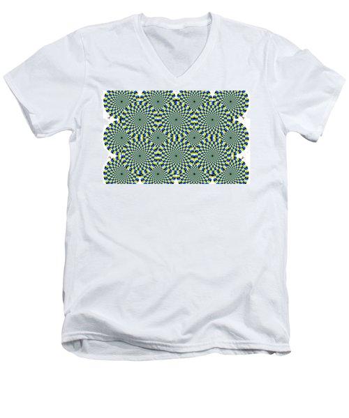 Optical Illusion Spinning Circles Men's V-Neck T-Shirt
