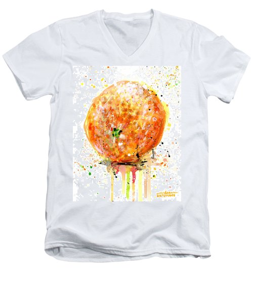 Orange 1 Men's V-Neck T-Shirt