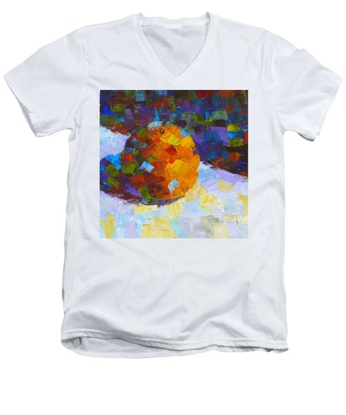 Orange Mosaic #3 Men's V-Neck T-Shirt