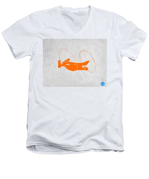 Orange Plane Men's V-Neck T-Shirt