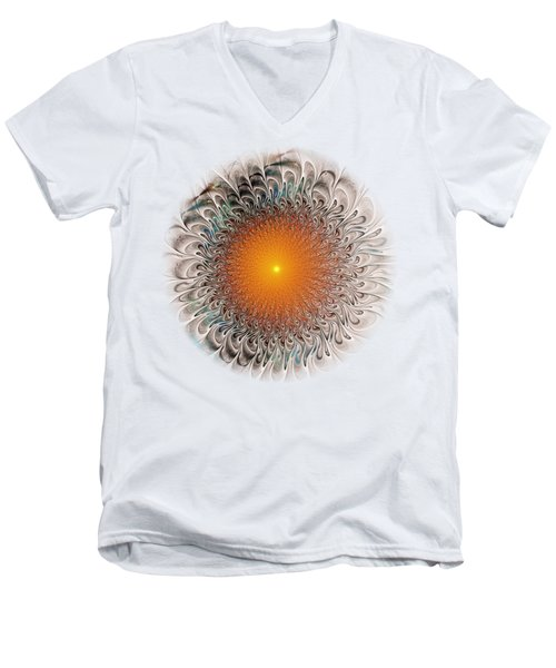 Orange Zone Men's V-Neck T-Shirt