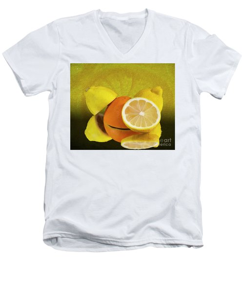 Oranges And Lemons Men's V-Neck T-Shirt