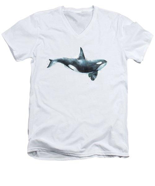 Orca Men's V-Neck T-Shirt by Amy Hamilton