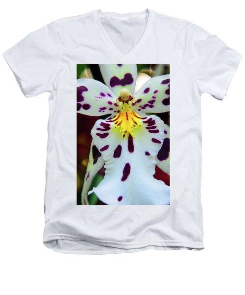 Orchid Cross Men's V-Neck T-Shirt