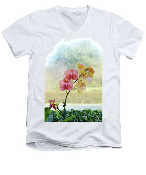Orchid In Portrait Men's V-Neck T-Shirt