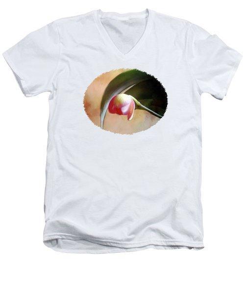 Orchid Opening Men's V-Neck T-Shirt