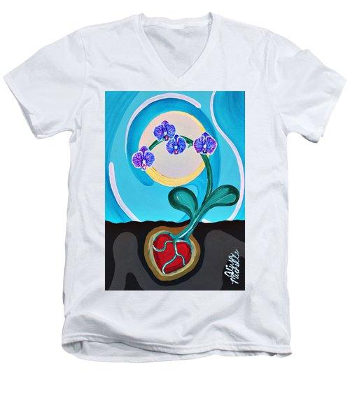 Orchids For My Love Men's V-Neck T-Shirt