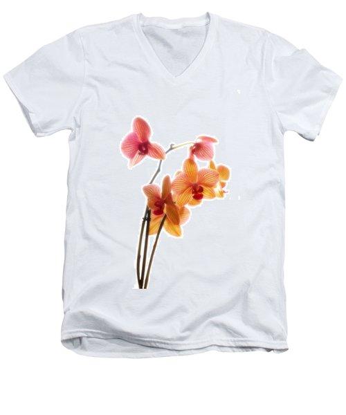 Orchids Men's V-Neck T-Shirt by Mark Alder