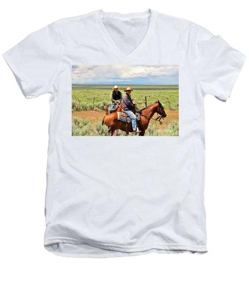 Oregon Cowboys Men's V-Neck T-Shirt by Michele Penner