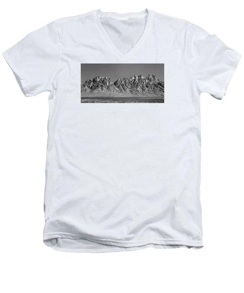 214878-organ Mountains Panorama     Men's V-Neck T-Shirt
