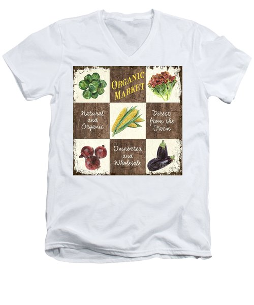 Organic Market Patch Men's V-Neck T-Shirt by Debbie DeWitt