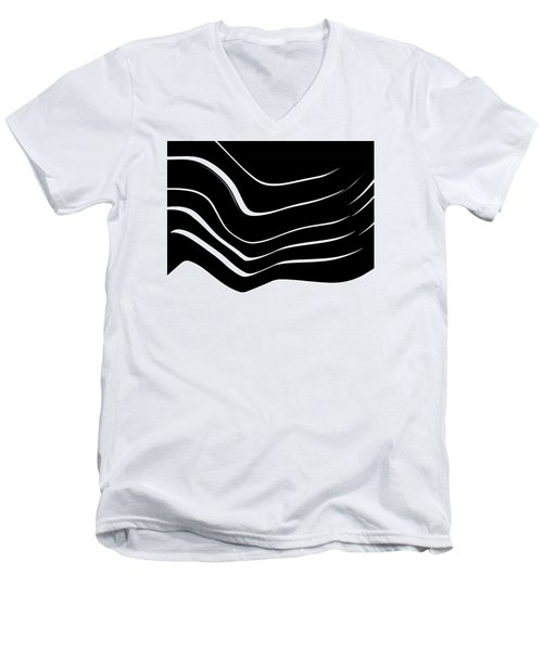 Organic No. 10 Black And White #minimalistic #design #artprints #shoppixels Men's V-Neck T-Shirt