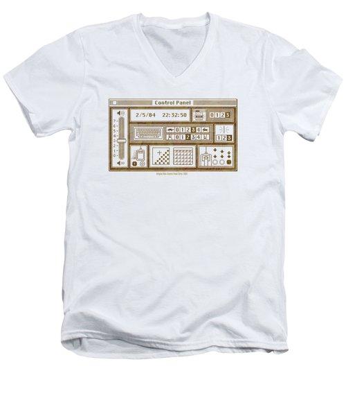 Original Mac Computer Control Panel Circa 1984 Men's V-Neck T-Shirt