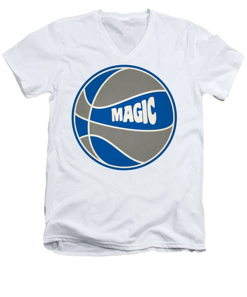 Men's V-Neck T-Shirt featuring the photograph Orlando Magic Retro Shirt by Joe Hamilton