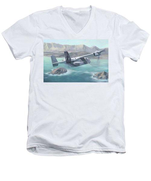 Osprey Over The Mokes Men's V-Neck T-Shirt