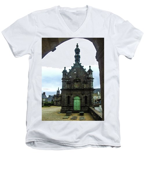 Ossuary Of St Thegonnec Men's V-Neck T-Shirt by Helen Northcott