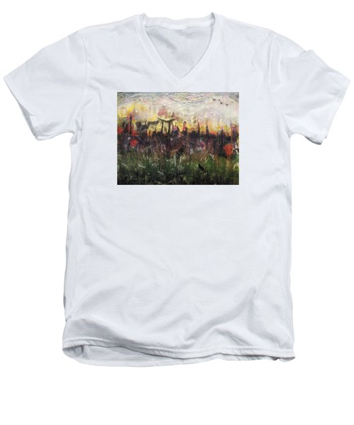 Other World 2 Men's V-Neck T-Shirt by Ron Richard Baviello