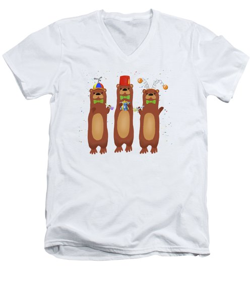 Otter Party And You Are Invited Men's V-Neck T-Shirt by Little Bunny Sunshine