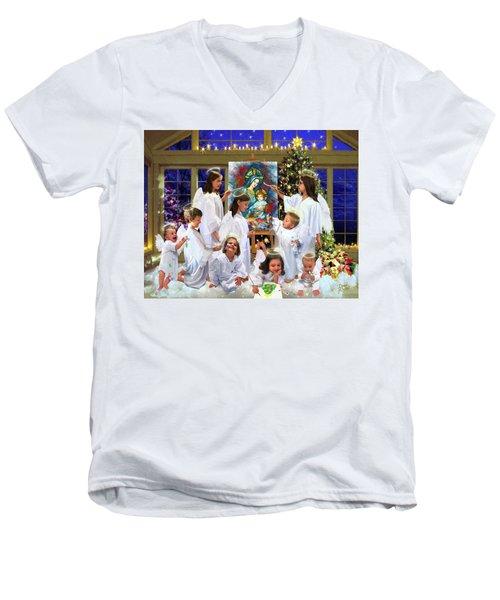 Our 2017 Christmas Angels Men's V-Neck T-Shirt