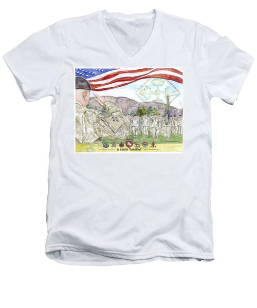 Our Credentials Steadfast And Loyal Men's V-Neck T-Shirt