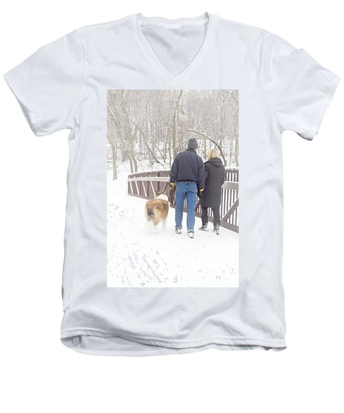 Our Love Will Keep Us Warm Men's V-Neck T-Shirt