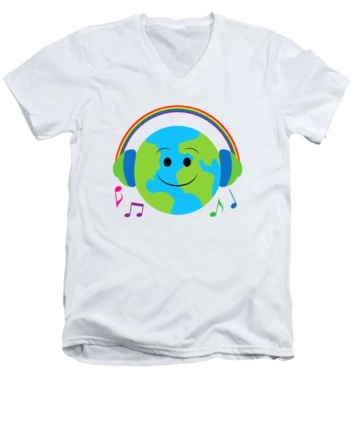 Our Musical World Men's V-Neck T-Shirt by A