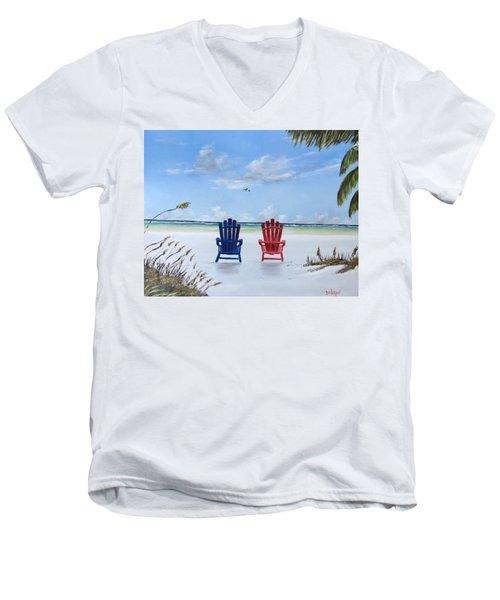 Our Spot On Siesta Key Men's V-Neck T-Shirt