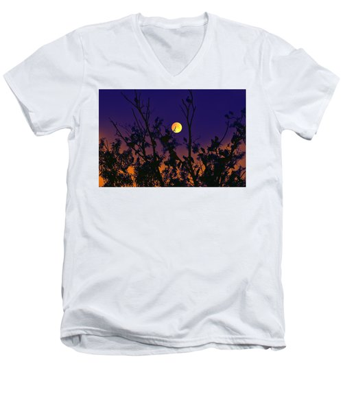 Men's V-Neck T-Shirt featuring the digital art Our Tree House by Bliss Of Art