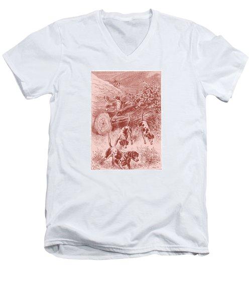 Out Foxing Men's V-Neck T-Shirt by David Davies