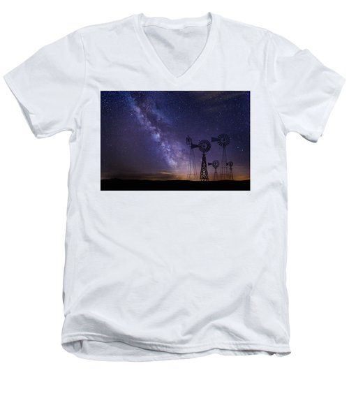 Our Milky Way  Men's V-Neck T-Shirt