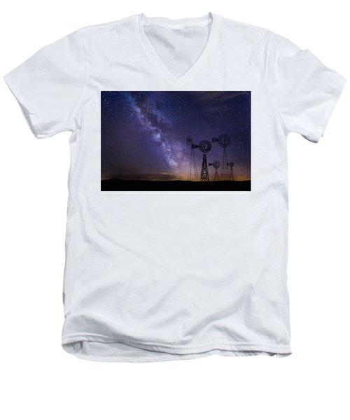 Our Milky Way  Men's V-Neck T-Shirt