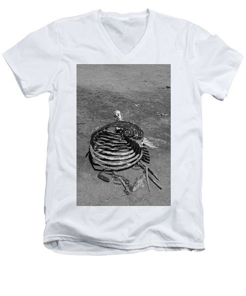 Men's V-Neck T-Shirt featuring the photograph Out Of Control by Marie Neder
